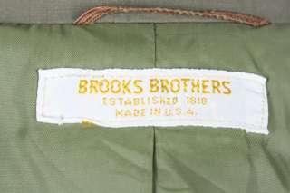Brooks Brother Olive Khaki Cotton Travel 2 Piece Suit 38 R