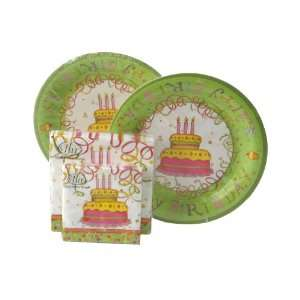 Ideal Home Range Dinner Plates and Napkins Set, Birthday