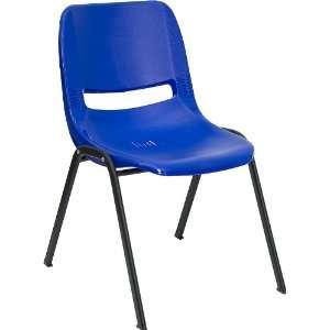 Flash Furniture Blue Ergonomic Shell Stack Chair