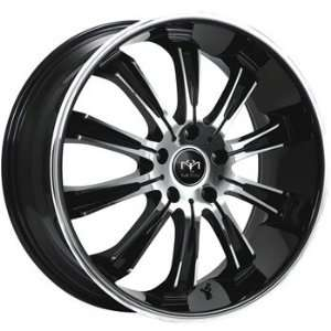 Motiv Maximus 20x10 Chrome Black Wheel / Rim 5x4.5 with a 25mm Offset