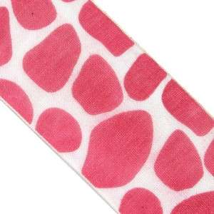yards 1 1/2 WIDE 40mm Giraffe Animal Print Organza Craft Wrap Ribbon