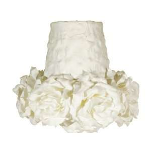 Small Floral White Lamp Shade