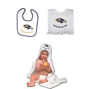 Baltimore Ravens NFL Toddler Bib and Bath Set 3 PC Set