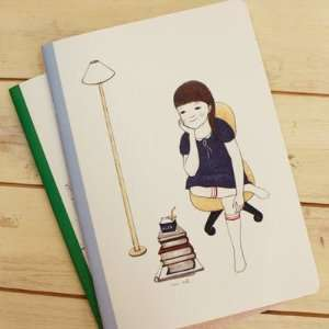Lovely Notebook   Hwang Miok Little Girl: Office Products