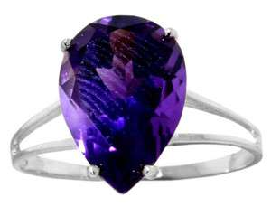GAT STERLING SILVER RING WITH NATURAL PURPLE AMETHYST