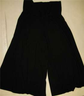 VVW Womens Gauchos Stretch Knitted Pant Black L