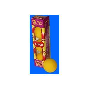 Sponge Balls 2 YELLOW   Close Up / Magic Trick Toys & Games