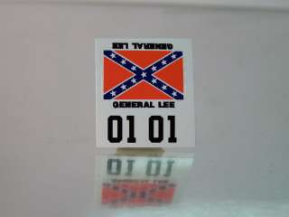 Hotwheels Redline (GENERAL LEE) D.O.H DECAL SET