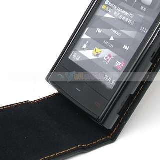 SOFT FLIP LEATHER CASE COVER POUCH FOR NOKIA X6 BLACK