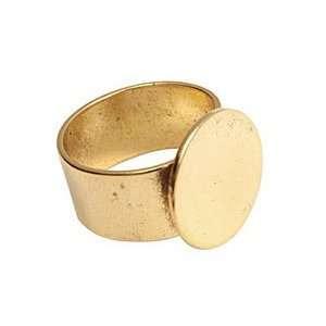 Nunn Design Antique Gold (plated) Large Circle Adjustable