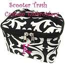 Cosmetic Case Makeup Bag Damask print PERSONALIZED