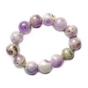 Flourite Gemstone Beads Stretch Ring, 4mm Beads Jewelry