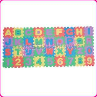 Foam Alphabet Number Floor Mat Education Puzzle Letter
