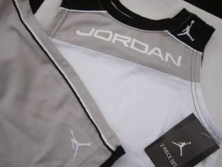 Nike Air Jordan Jumpman 2PC Outfit/Set NWT Boys 4T Shirt Shorts Gray $