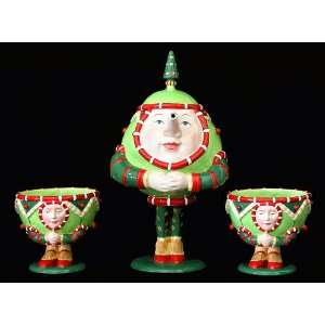 Christmas Ornament 3 Pc Tea Set by Patience Brewster