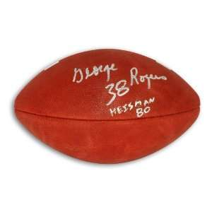 George Rogers Autographed Football   with Heisman 80
