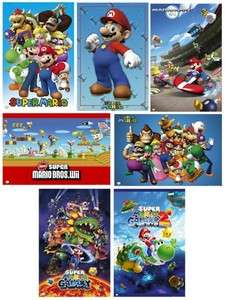 VIDEO GAME POSTER 7 SET ~ SUPER MARIO LOT Brothers