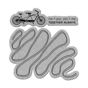 New   Penny Black Cling Rubber Stamp 4X5.25 by Penny Black