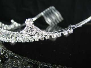 A248 Clear Wedding Bridal Bridesmaid Swarovski Crystal Rhinestone Prom