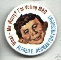 ALFRED E. NEUMAN President pin MAD Magazine