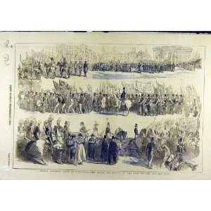 1846 Prince Albert Liverpool Procession Banquet Print