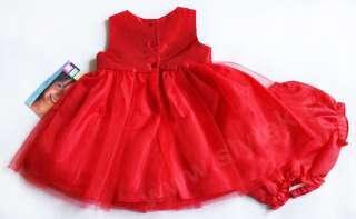 Baby Toddler Birthday Flower Girl NEW Holiday Xmas Short Sleeve