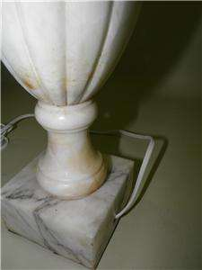 ANTIQUE NEOCLASSICAL MARBLE HAND CARVED URN LAMP