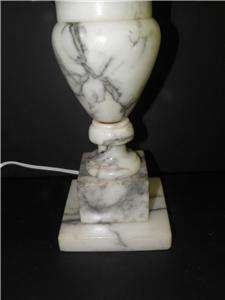 ANTIQUE ALABASTER MARBLE HAND CARVED NEOCLASSICAL URN LAMP