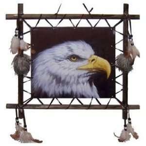 Square 16 x 16 Dream Catcher Eagle Face Picture