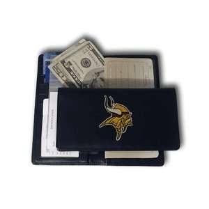 NFL Minnesota Vikings Leather Checkbook Cover Sports