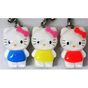 Hello Kitty Strap, Charm, Keychain, a Set of 3 Pieces