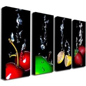 Black Splash by Roderick Stevens Canvas Art (Set of 4