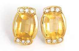 Sparkling Citrine, Diamond & 18k Yellow Gold Earrings by H. Stern