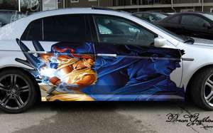 FULL COLOR CAR VINYL DECAL STICKER SIDE ANIME RYU HADOUKEN #27