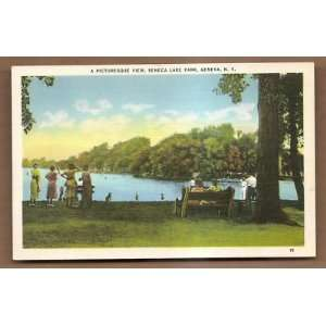 Postcard Seneca Lake Park Geneva New York