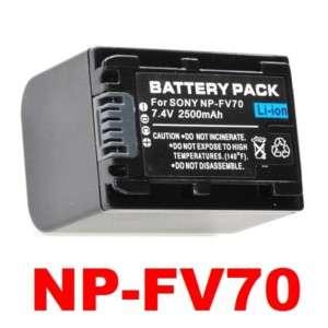 NP FV70 Battery for Sony Handycam DCR DVD103 HDRXR100