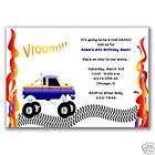 Mudslinger Monster Truck Kids Birthday Boy Party x8 Thank You Cards
