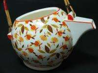 ANTIQUE NUMBERED POTTERY CERAMIC FLORAL TEAPOT SEE