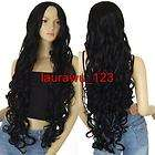 28 Long Ex Long Bangs Black Wavy Cosplay Wigs G items in laurawu 123
