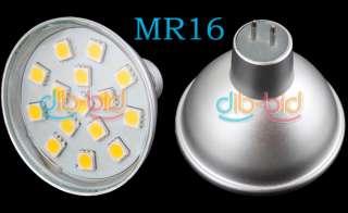 12V MR16 15 SMD 5050 LED Light Lamp Bulb Warm White #1