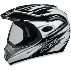 AFX FX 37 DUAL SPORT CYCLE HELMET PEARL WHITE MULTI XL
