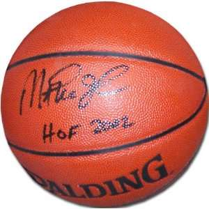 Magic Johnson Autographed Indoor/Outdoor Spalding Basketball with HOF