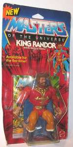 1986 He Man MOTU King Randor Sealed on Card MOSC