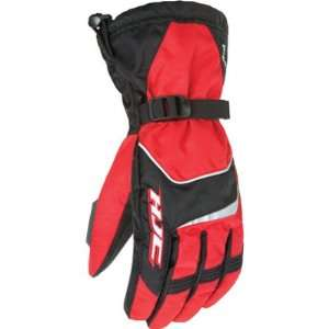 HJC Storm Mens Snow Racing Snowmobile Gloves   Black/Red