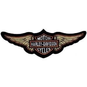 Harley Davidson Chenille Wing Patch (5xlarge) Automotive