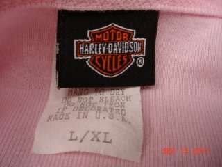 WOMANS AUTHENTIC HARLEY DAVIDSON NIGHT GOWN SLEEP SHIRT PINK L / XL