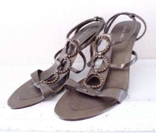 WOMEN NINE WEST rhinestone high heels 7.5M Bronze