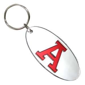 Alabama Crimson Tide Silver Oval Mirror Key Chain Sports