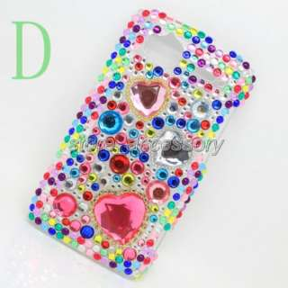 Crystal Diamond Hard Case Cover For HTC Sensation 4G G14 Mix1