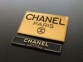 Authentic Chanel Vintage Pin Brooch gold logo plate